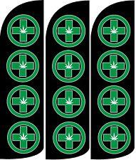 Dispensary Windless Standard Size  Swooper Flag Sign Banner Pk of 3