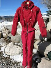 Nils Women's Sz 10 Red Print 1-piece Ski Snow Suit FREE SHIPPING!!
