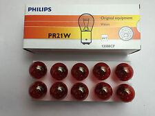 10 x Philips bombilla pr21w 12v 21w Baw15s Rojo 12088cp 12088 CP Lámpara