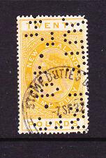NEW ZEALAND  1882  20 pound   QV FISCAL  P14 1/2x14