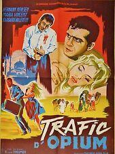 TRAFIC D'OPIUM ! affiche cinema   drug , cannabis ....