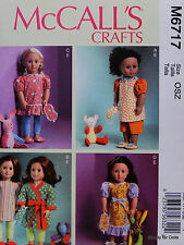 "**SALE** McCall's 6717 PATTERN for 18"" American Girl DOLL CLOTHES 4 Styles NW OP"