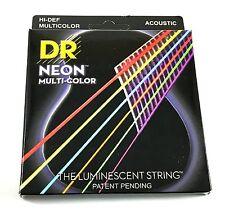 DR Guitar Strings Acoustic Neon Multicolor Lite 10-48 Luminescent