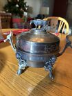 Antique Meriden B  Company Silver plated Butter Dish   3 Pieces   Cow Finial