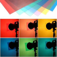 6pcs Transparent Lighting Color Correction Gel Sheets Filters for Flash DT O3T2