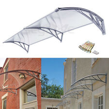"""40""""x 80"""" Overhead Window Canopy Awning Modern Polycarbonate Outdoor Decorator"""
