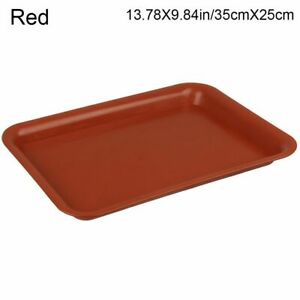 Durable Rectangle Plant Saucer Plastic Tray Saucers Drip Trays Indoor Outdoor