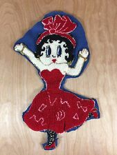 """Vintage Betty Boop Red Dress Punch Needle Patch Applique Embroidery 12""""x7"""""""