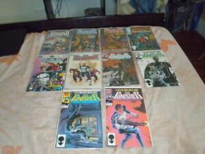 Lot of 10 Marvel Comics The Punisher Comic Books