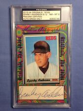 Sparky Anderson Index Card PSA/DNA Certified Authentic Auto 6/12