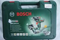 Bosch PSR 14,4 LI-2 Akku-Bohrschrauber 2 Akkus mit 2,0Ah und Ladegerät