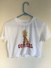 brandy melvlle white crop cotton Serena cowgirl top NWT S/M