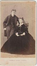 1865 FOTO RITRATTO DI UNA COPPIA FRATELLI ALINARI FIRENZE