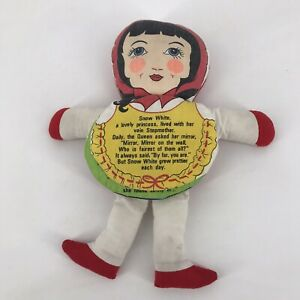 Vintage House Of Lloyd Snow White Storybook Stuffed Doll Sewn Toy Princess Tale