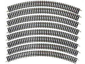 DeAgostini 026 - gebogenes Gleis C245 R 271mm 45° 8x - Spur N - NEU