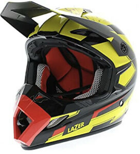 Lazer MX8 Geotech Carbon Helmet Red/ Yellow Fluo S - ECE Safety compliant