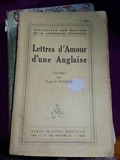 LETTRES D' AMOUR D' UNE ANGLAISE - HENRY D' AVRAY -  1927