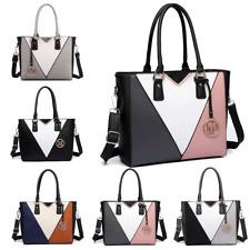Women Designer PU Leather Shoulder Handbag Tote Bag Patchwork Snake Skin V-Shape
