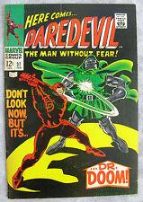 DAREDEVIL #37 1968 Silver Dr. Doom - Gene Colan - Stan Lee - Very Nice BIG PICS!