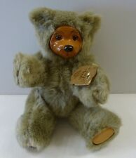 "Robert Raikes Teddy Bear Wood Wooden Face Jointed Signed wood Paw  11"" ""Cookie"""