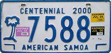 Encadrée Imprimer-American Samoa Nombre / Plaque de licence (Photo Poster voiture art)