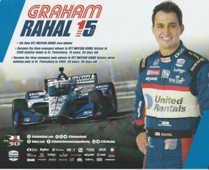 2021 Graham Rahal United Rentals + Takuma Sato Honda Indy Car Hero Card