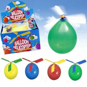 BALLOON HELICOPTER KIDS FLYING TOY OUTDOOR HOURS OF FUN STOCKING FILLER GIFT