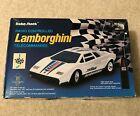 "Radio Shack Radio Remote Controlled White Lamborghini Toy Racer Car 9"" Long"