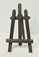 Antique Picket Fence Photo Art Display Easel Stand Miniature