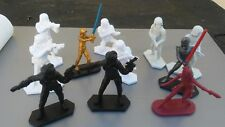 """11 Star Wars 2 1/4"""" tall Plastic Action Figures 2014"""