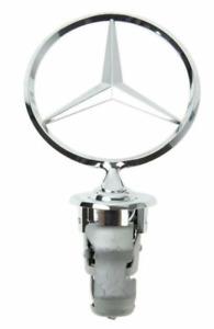Genuine Mercedes Front Hood Grille Chrome Star Emblem Logo Sign 124880008667