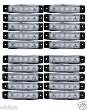x 20 x 24v 6 luces LED INTERMITENTE LATERAL BLANCO Iveco Volvo DAF Scania Man