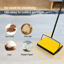 MANUAL CARPET SWEEPER BRUSH CORDLESS RUG CLEANER DUSTER BROOM