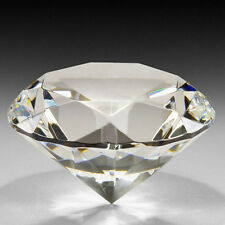 40mm Clear Crystal Cut Glass Paperweight Jewel Collectible Home Wedding Decor