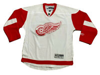 Auth Reebok NHL CCM Detroit Red Wings White Red Hockey Jersey Sz L