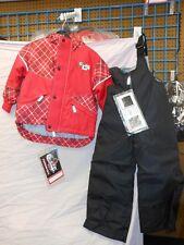 Choko NOS Youth RED PLAID Size 3 Snowmobile Jacket and bib pants