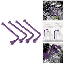 4Pcs Silicone Goblet Holder Dishwasher Bracket Wine Glass Rack Bar Kitche.p