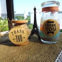 """90pcs """"thank you"""" craft packaging seals kraft sealing sticker label cute pap Dz"""