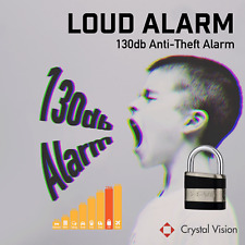 Crystal Vision SHPLA Weather Proof Anti Theft Loud 130db Heavy Duty Alarm Lock