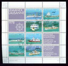 Svizzera, 1978 lemanex 78 blocco 23 timbrato, (6389)