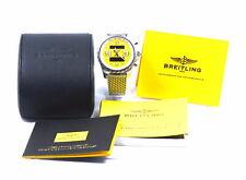 Breitling Chronospace Rare Yellow 48mm Steel Mens Bracelet Watch Alarm A78365