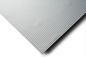 Antirutschmatte Linien Breite 60 cm silber - Meterware