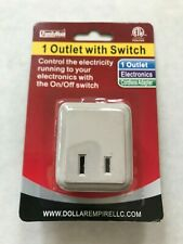 WALL TAP OUTLET WITH ON OFF POWER SWITCH PLUG HOME OFFICE ELECTRICITY NEW