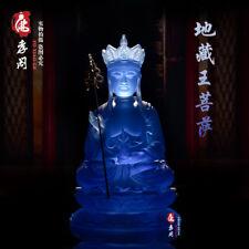 Tibetan Buddhism blue glass Buddha King of the Inferno Glaze Glass Buddha