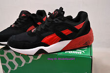 Puma Trinomic Black Red Mens Running Shoes R698 (Size 10.5, EUR 44, 28.5 CM)