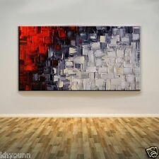 Modern Abstract Handmade Black White And Red Oil Painting(no framed)