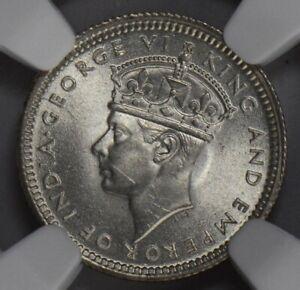 NG0202 Malaya and British Borneo 1943  5 Cents NGC MS 65 rare in this grade comb