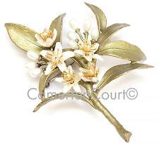 Silver Seasons Orange Blossom Pin By Michael Michaud #5776BZWP