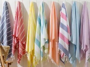 Turkish Soft Cotton Peshtemal Pareo Towel Shawl - Use in Spa, Beach, Hamam, Pool