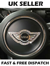 Mini Cooper Diamonte Rhinestone Bling Ice Metal Steering Wheel Logo Surround